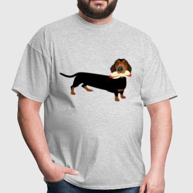 Hot-Dog Eating Dachshund - Men's T-Shirt