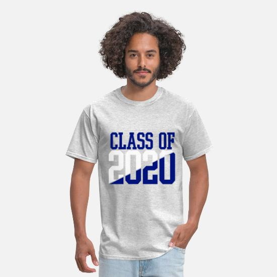 2020 T-Shirts - CLASS OF 2020 WHITE AND BLUE - Men's T-Shirt heather gray