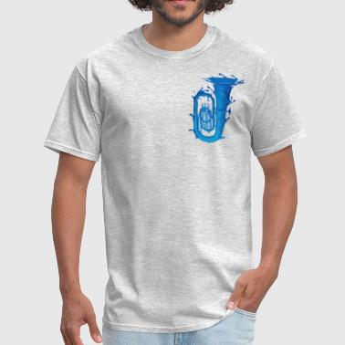 Hamilton Musical Tuba Splash Blue - Men's T-Shirt