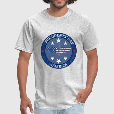 American Icon Cities PRESIDENTS DAY USA AMERICAN EAGLE GIFT AMERICA - Men's T-Shirt