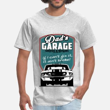 9c791d3c9 Bikes And Cars Collection Dad's Garage with 68 Mustang - Men&#. Men's T- Shirt