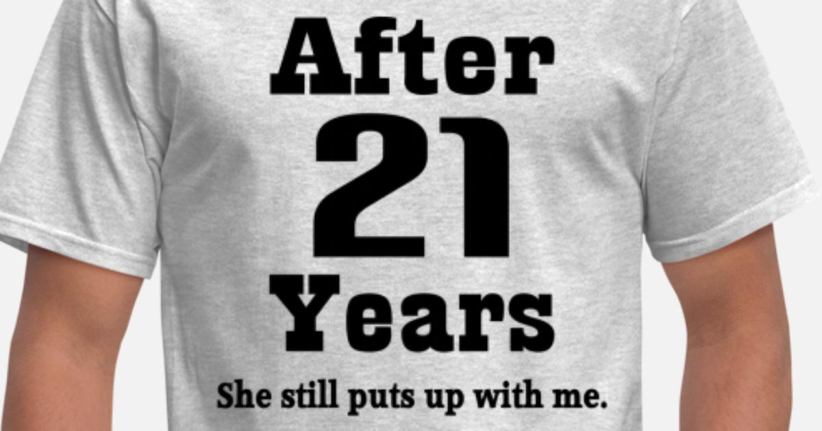 21st Wedding Anniversary Gifts For Husband: 21st Wedding Anniversary Funny Husband Gift Men's T-Shirt