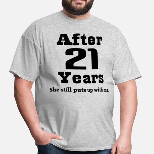 21 Wedding Anniversary Gifts: 21st Wedding Anniversary Funny Husband Gift Men's T-Shirt