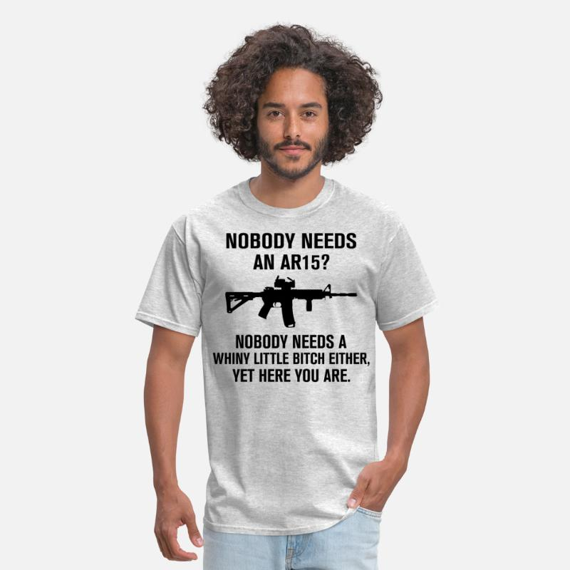 Gun Rights T-Shirts - Nobody Needs An AR15 - Men's T-Shirt heather gray