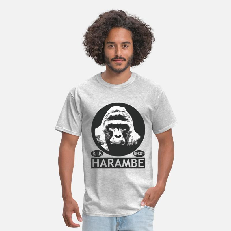 Harambe T-Shirts - HARAMBE - Men's T-Shirt heather gray