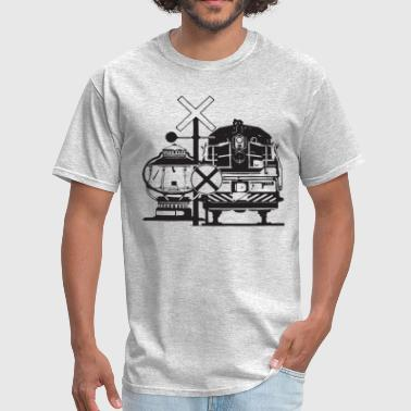 Vintage Train Locomotive - Men's T-Shirt