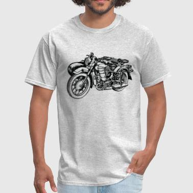 Biker Gang Vintage Motorcycle Side Care - Men's T-Shirt