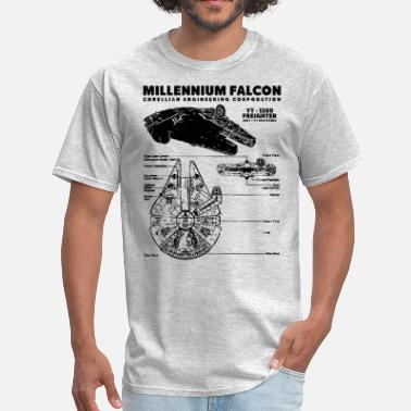 Falcon Millennium Falcon Blueprint - Men's T-Shirt