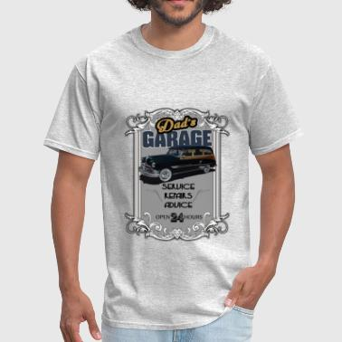 Funny Pontiac Dad's Garage with pontiac - Men's T-Shirt