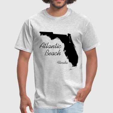 Atlantic Beach, Florida - FL, Black - Men's T-Shirt