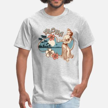 Vintage Aloha Hula Girl - Men's T-Shirt
