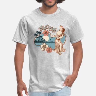 f2895beb10d Vintage Aloha Hula Girl - Men  39 s T-Shirt. Men s ...