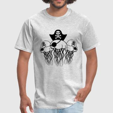 Usa Swimming captain 3 friends party team crew pirate buccaneer - Men's T-Shirt