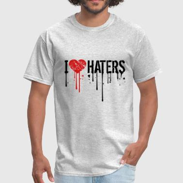 drop graffiti i love heart haters allowed prohibit - Men's T-Shirt