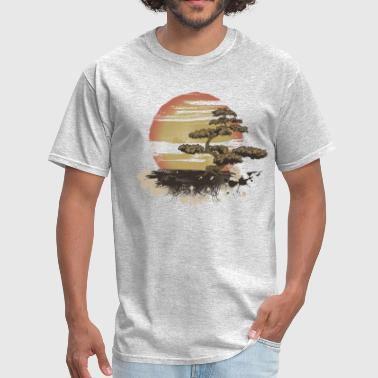 Vintage Tree Sunset - Men's T-Shirt