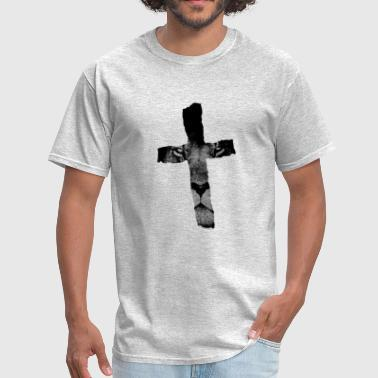 Cross with Lion Christian Religious Print - Men's T-Shirt