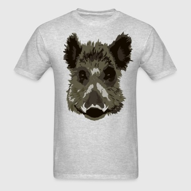 head wild hog boar - Men's T-Shirt