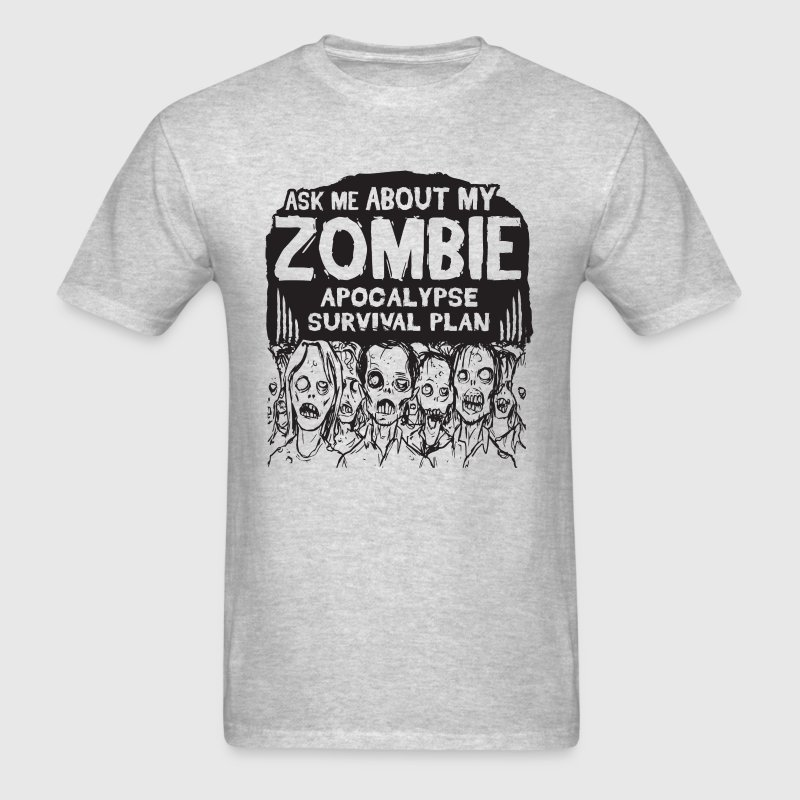 Ask Me about my zombie ap - Men's T-Shirt