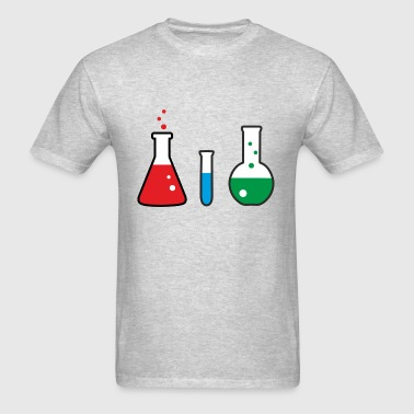 Laboratory flasks, science, chemistry - Men's T-Shirt