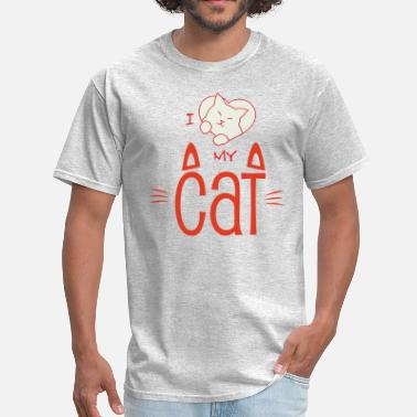 Felino I love my cat - Men's T-Shirt