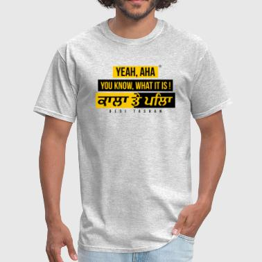 Ghaint Black and Yellow - Men's T-Shirt