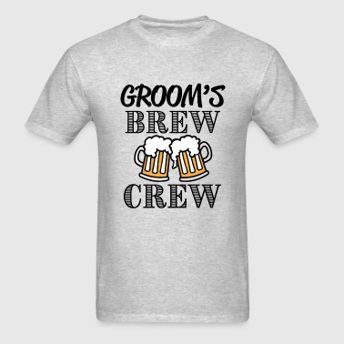 Groom's Brew Crew groomsmen party shirt - Men's T-Shirt
