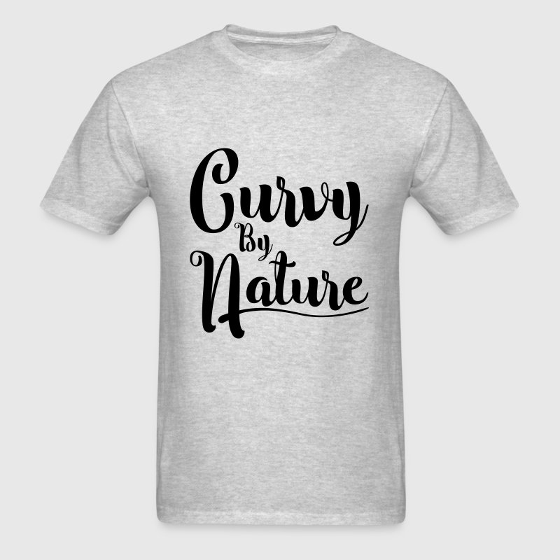 Curvy by Nature - Men's T-Shirt