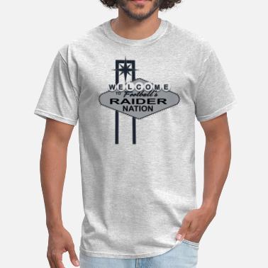 0d61ae61f Las Vegas Raiders Welcome Raider Nation - Men's T-Shirt