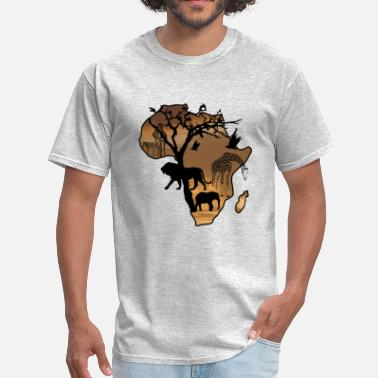 African Wildlife Safari Safari African Jungle Wild Animals t-shirts - Men's T-Shirt