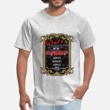 Ford F100 dad's garage with F100 - Men's T-Shirt