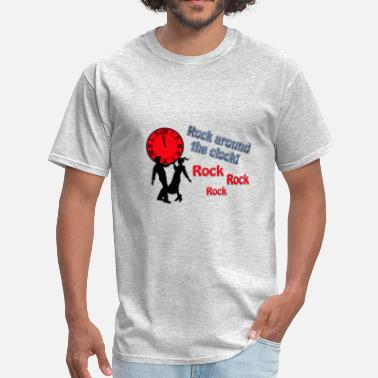 Clock Rock Around The Clock Song Title Designs - Men's T-Shirt