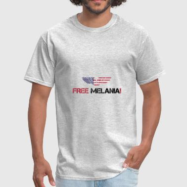Trump Satire FREE MELANIA! Donald Trump Politics Satire Gift - Men's T-Shirt