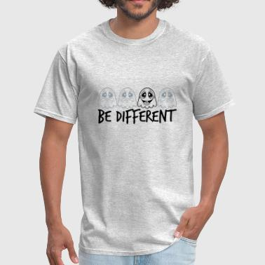 text be different laugh happy difference 2 friends - Men's T-Shirt
