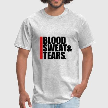 tears sweat blood blood cry tears beam blood exhau - Men's T-Shirt