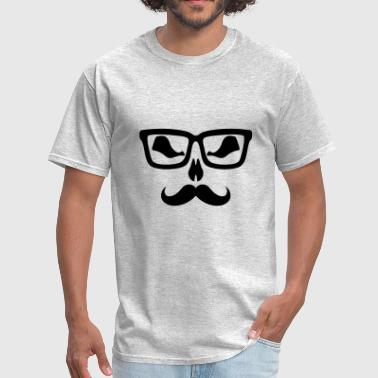 Moustache glasse scary - Men's T-Shirt