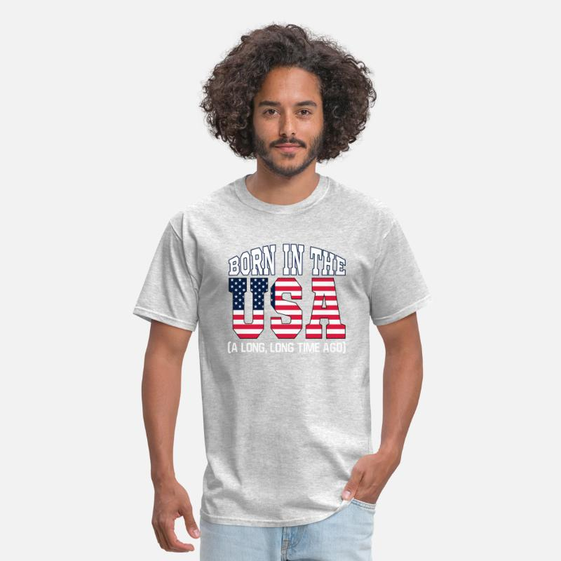 Usa T-Shirts - Born in the USA - Men's T-Shirt heather gray