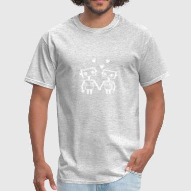Robot Love Humour Logo - Men's T-Shirt
