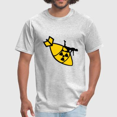 riding sit atomic bomb radioactive bombardier bomb - Men's T-Shirt