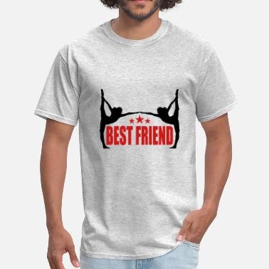 Fitness Instructor sports fitness yoga training best friends text log - Men's T-Shirt