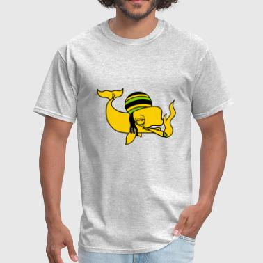 kiffen joint weed drugs smoke jamaica raggae canna - Men's T-Shirt