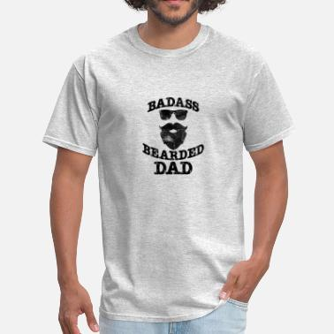 Dad With Beard Bearded Dad - Men's T-Shirt