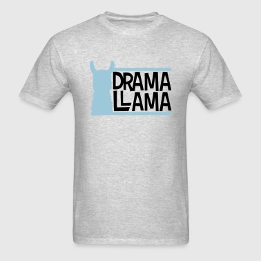 blue bars text logo drama llama party cool celebra - Men's T-Shirt