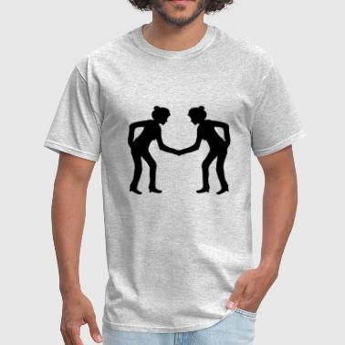 heart man grandfather grandfather couple love in l - Men's T-Shirt