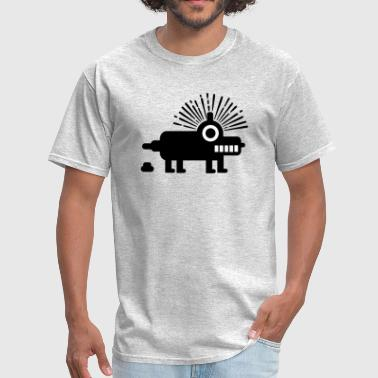 Meme Robot Robby the Robot Dog - Men's T-Shirt