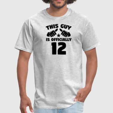 This Guy Is Officially 12 Years Old 12th Birthday - Men's T-Shirt