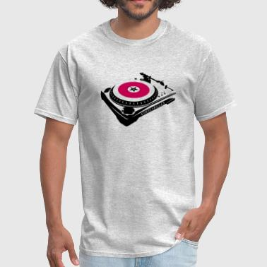 Techno Quotes VINYL RULES TURNTABLE - Men's T-Shirt