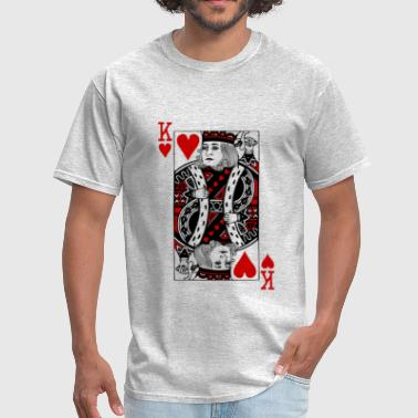 king of hearts Valentines Day - Men's T-Shirt