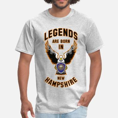 Legend News Legends are born in New Hampshire - Men's T-Shirt