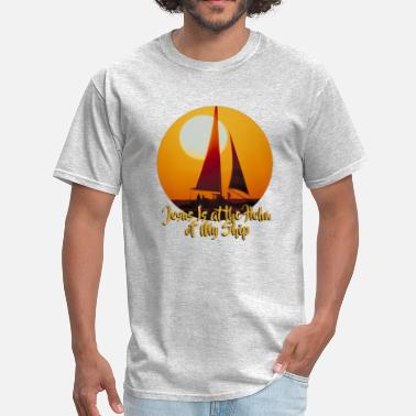 Jesus is at the Helm of My Ship - Men's T-Shirt