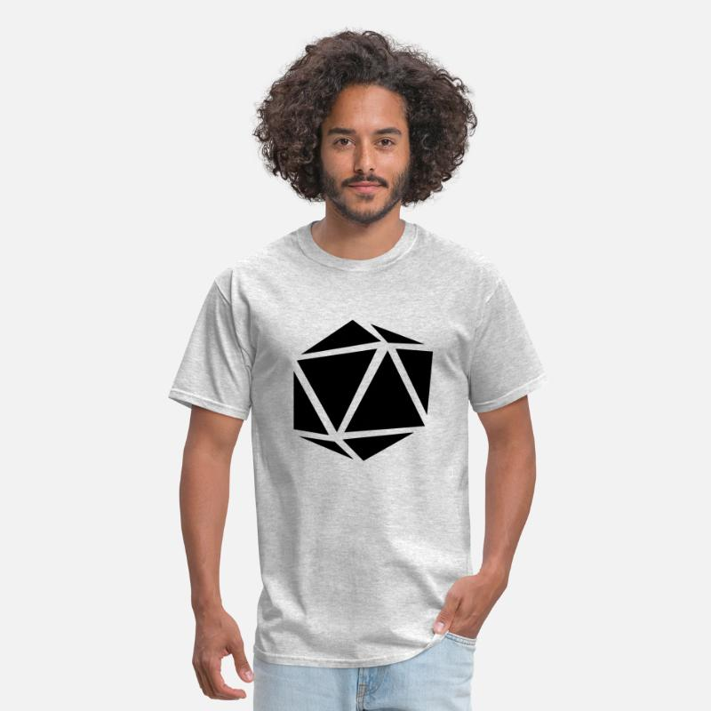 Atlantis T-Shirts - Icosahedron - Men's T-Shirt heather gray
